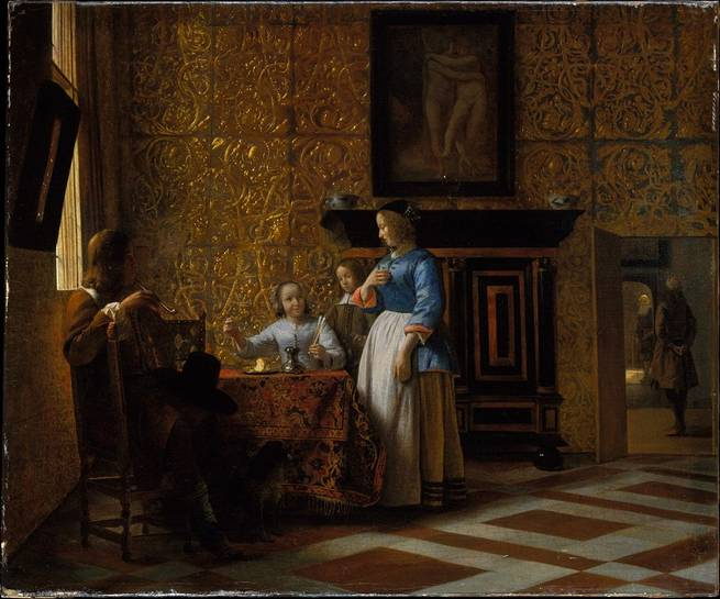 'Leisure Time in an Elegant Setting' Pieter de Hooch 1663 – 1665 Oil on Canvas